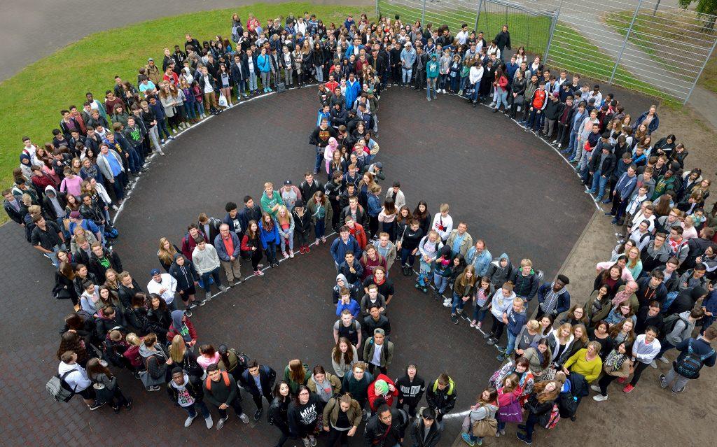 Peace Zeichen Schulbergredder